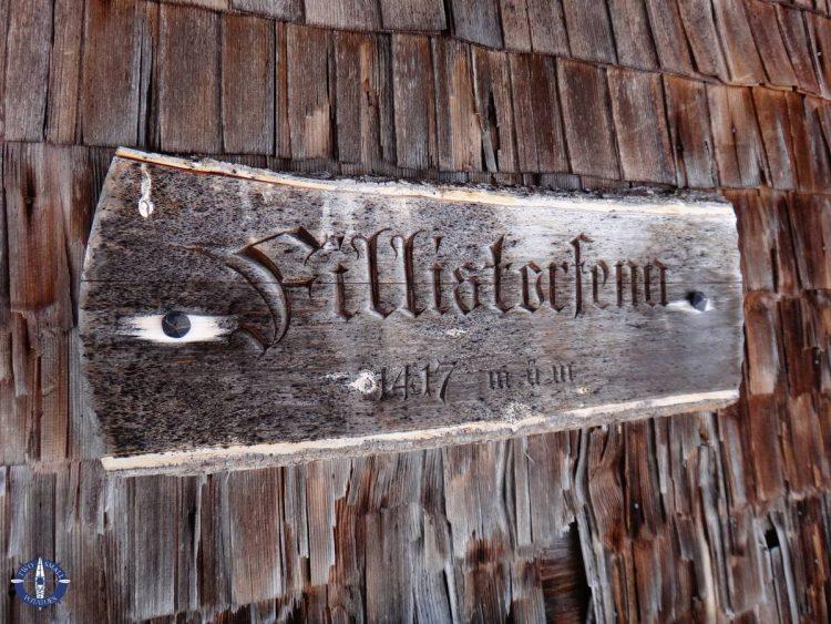 Sign for the Fillistorfena Hut, Switzerland
