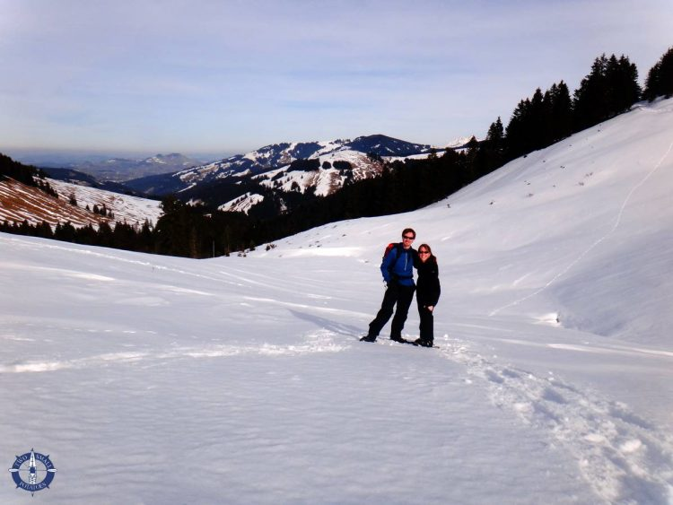 Snowshoeing the pre-Alps, Fribourg canton, Switzerland