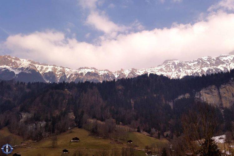 Ring of Alps in Switzerland's Lauterbrunnen Valley