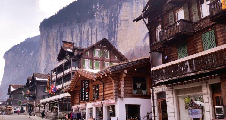 Staubbach Falls in Grindelwald, Switzerland