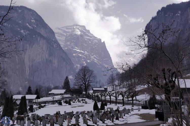 Beautiful Lauterbrunnen Valley in winter