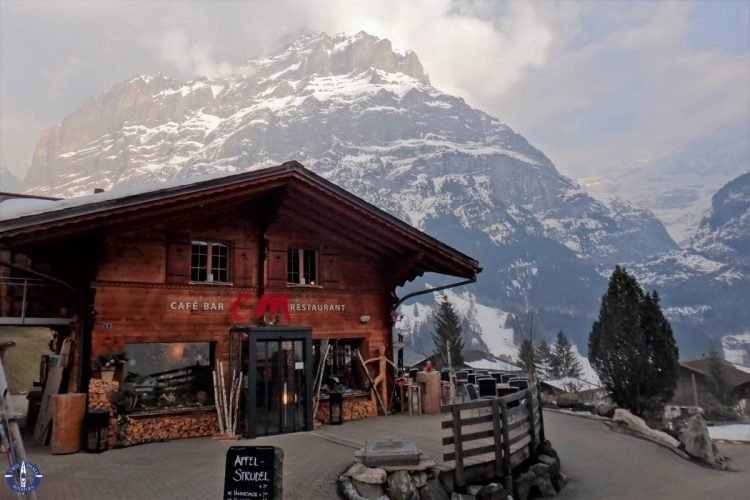 Stunning Alps in the town of Grindelwald, Switzerland