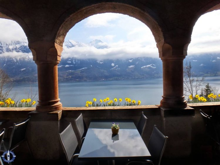 Thun Lake from St Beatus Caves, Switzerland