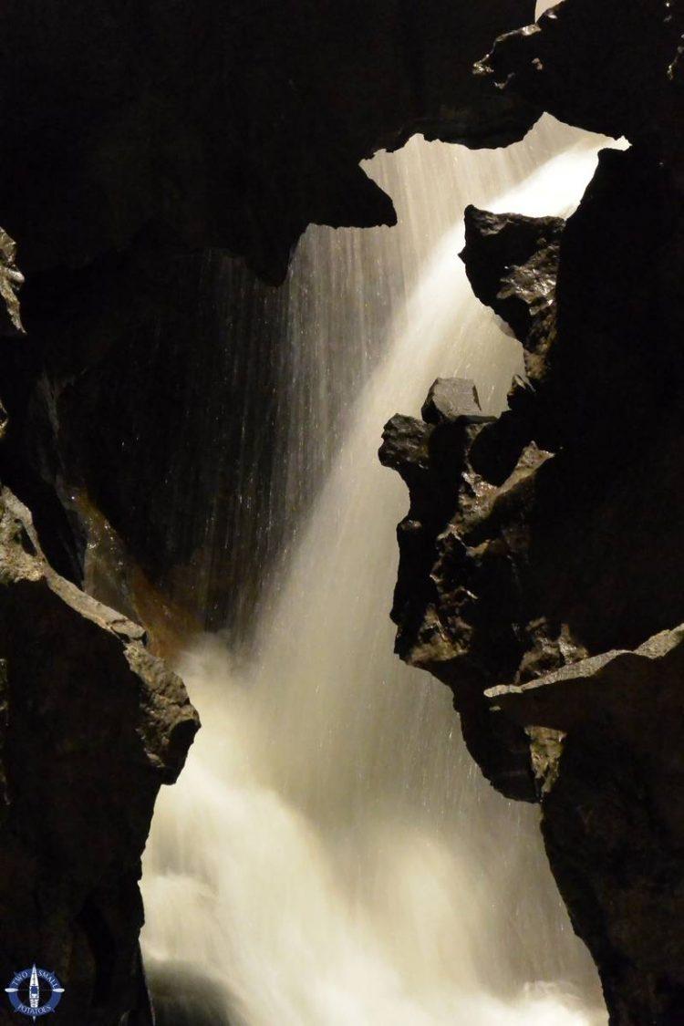 Waterfall in St Beatus Hohlen in Beatenberg, Switzerland