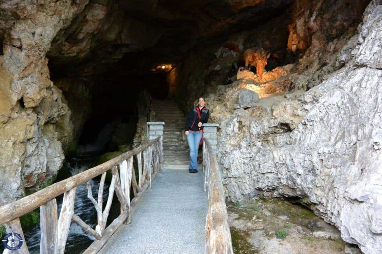 Entrance to St. Beatus Caves on Thun Lake