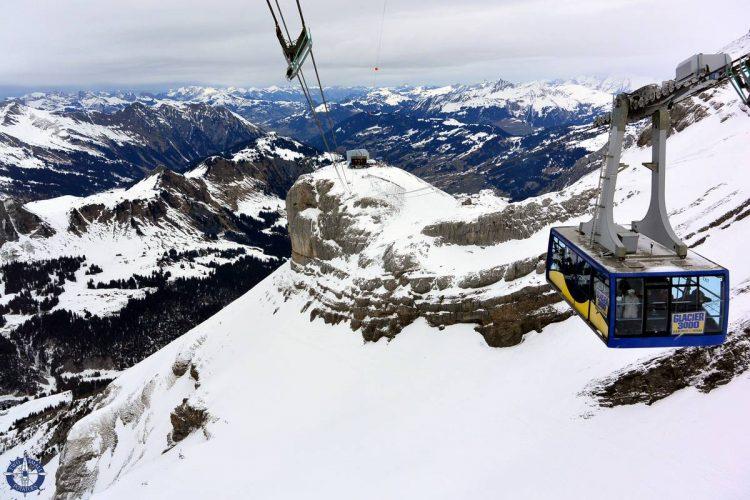 Glacier 3000 cable car in Les Diablarets, Switzerland