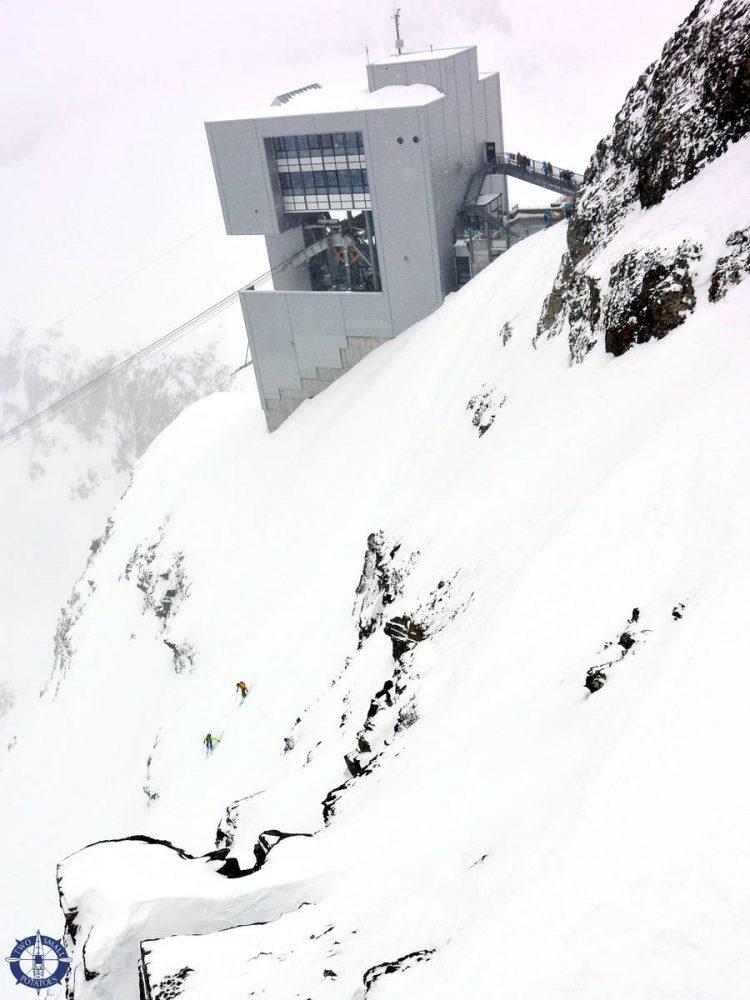 Glacier-des-Diablerets gondola lift station in Switzerland