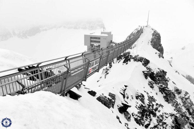 Glacier 3000 suspension bridge at Les Diablarets, Switzerland