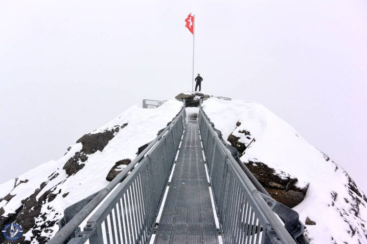 Travis stands on the summit of Scex Rouge in Switzerland
