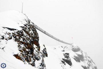 Glacier 3000 Peak Walk by Tissot suspension bridge in Switzerland