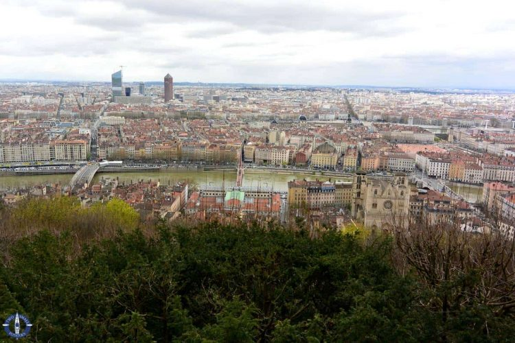 City of Lyon, France from Basilique overlook