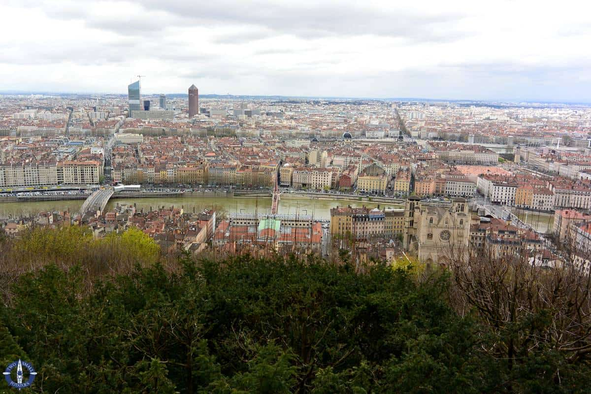 City of Lyon France from Basilique overlook