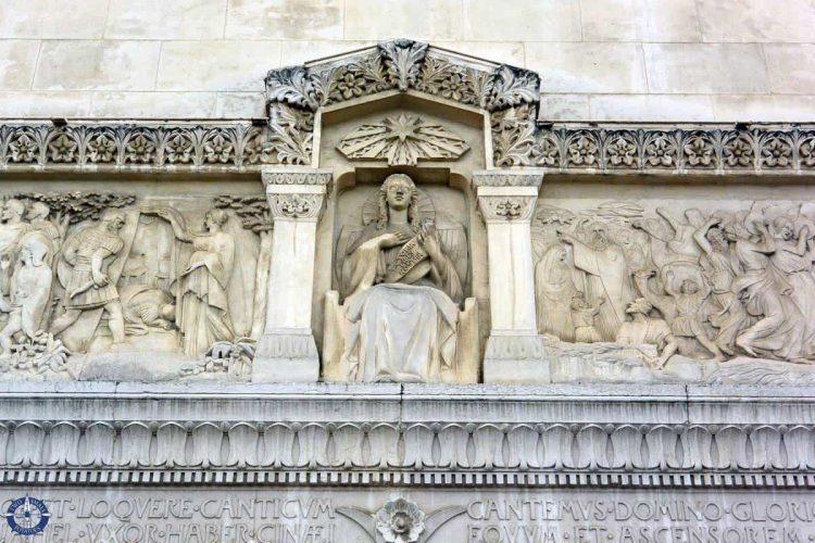 Facade of the UNESCO Fourviere Basilica