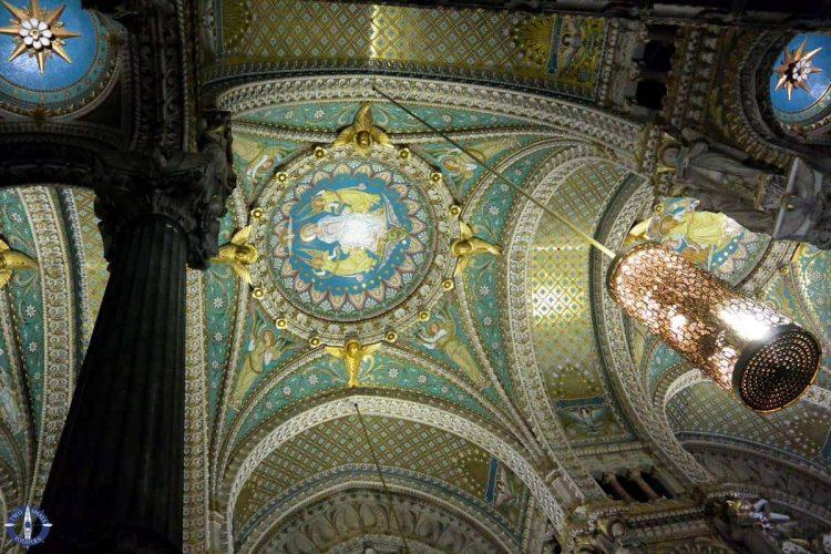 Ceiling of Notre Dame de Fourviere church in Lyon, TSP Travel