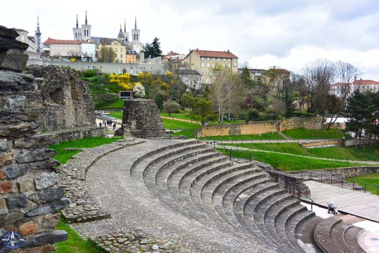 UNESCO Roman Amphitheater of Fourviere in Lyon, France