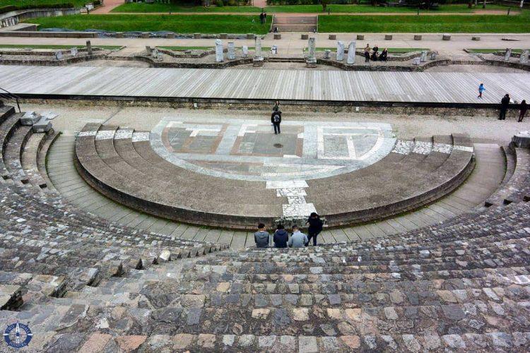 Roman amphitheater in Lyon, France