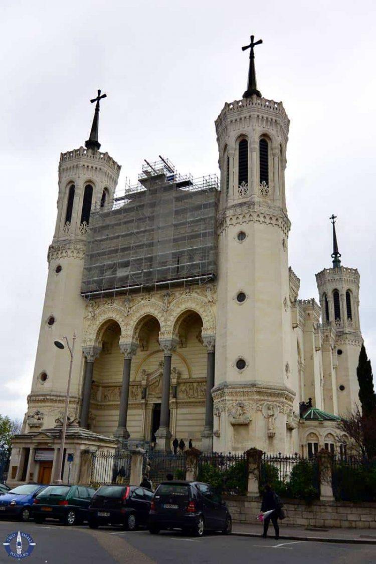 Exterior of the Basilique Notre-Dame de Fourviere in Lyon