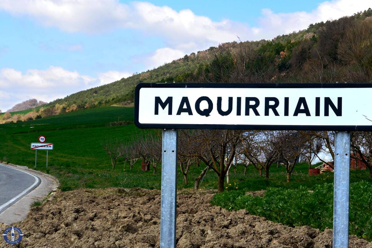 Tiny town of Maquirriain in Basque country, Spain