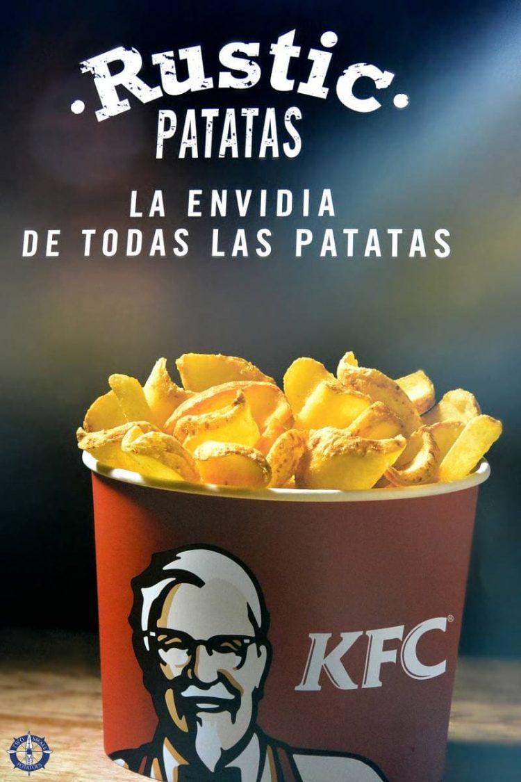 Rustic Patatas at KFC in Pamplona, Spain