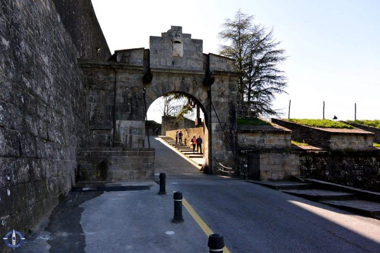 Entrance into the medieval old city of Pamplona