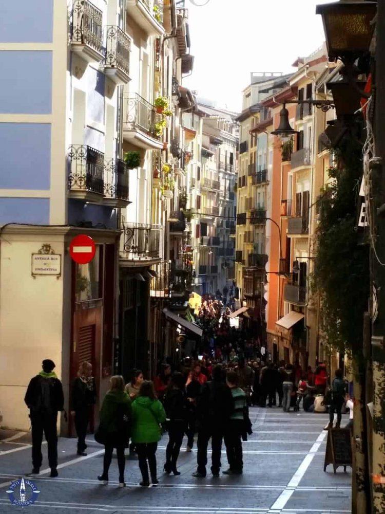 Street festivities in Pamplona on Easter