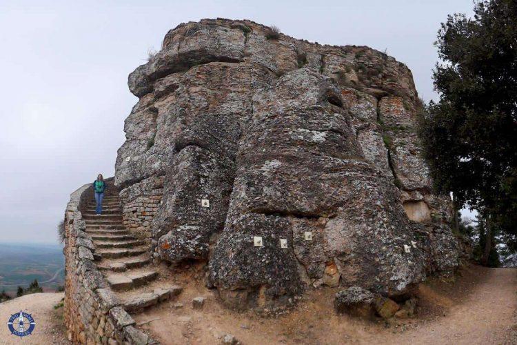 Ruins of Castillo de Monjardin Castle in Navarre, Spain