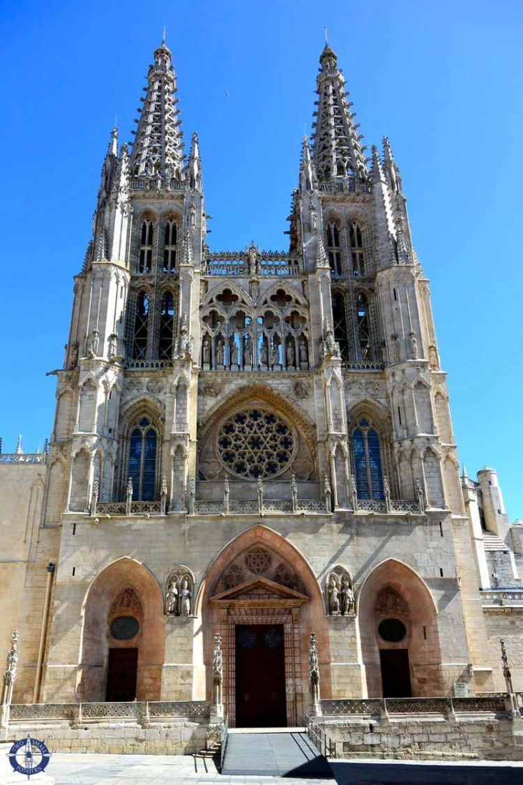 Exterior of Burgos Cathedral in Spain