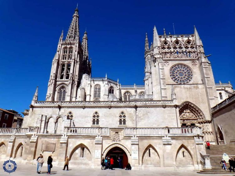South side of Burgos Cathedral in Spain