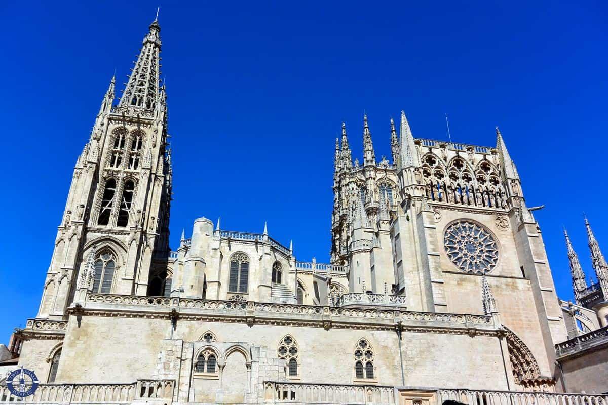 South side of Catedral de Burgos from San Fernando Plaza