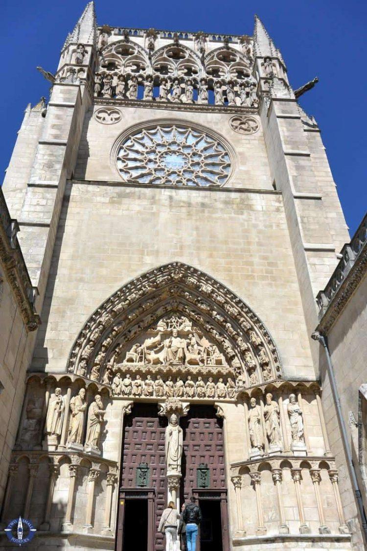 Sarmental Facade of the Catedral de Burgos in Spain