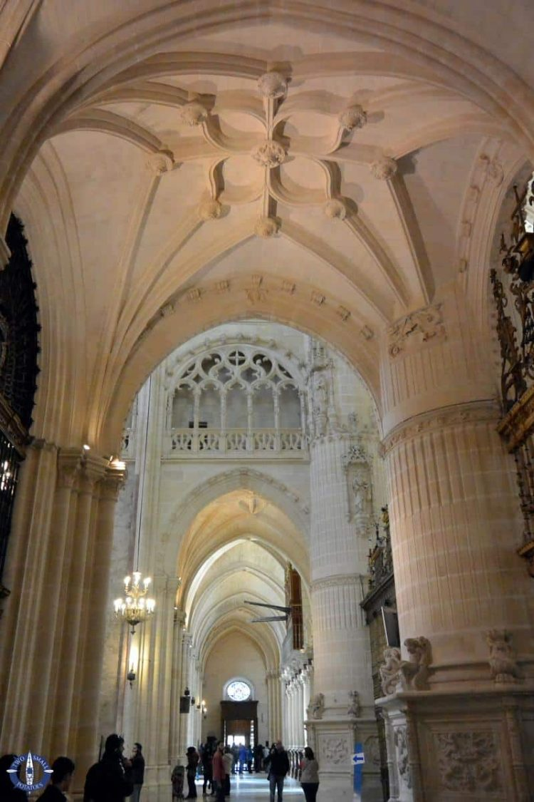 Interior of Burgos Cathedral in northern Spain