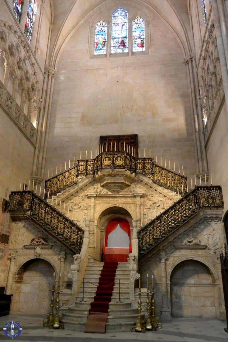 Golden Staircase - Escalera Dorada - of Burgos Cathedral, Spain