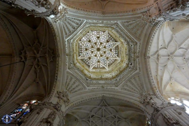 Ceiling of the main chapel in Burgos Cathedral, Spain