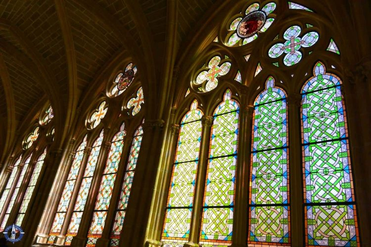 Stained glass windows in Burgos Cathedral