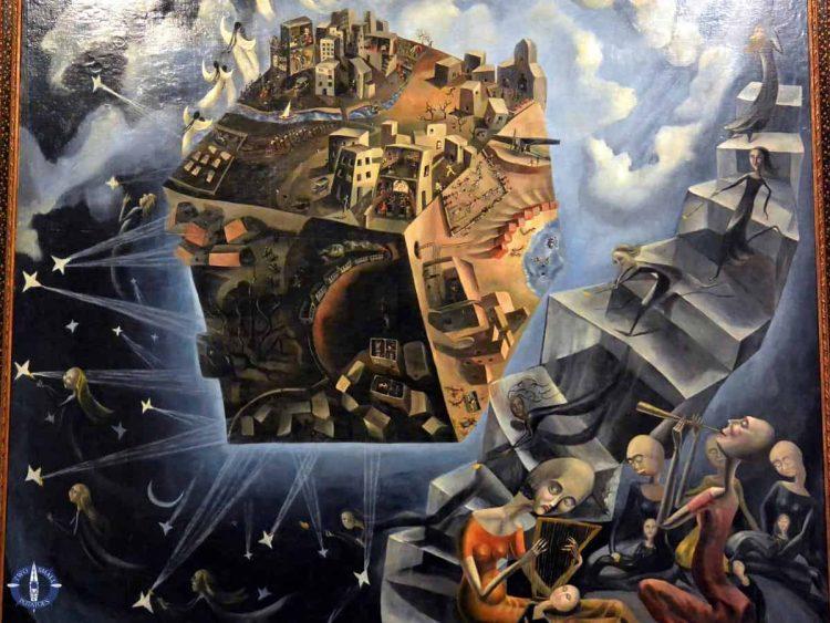 Un Mundo painting at Reina Sofia Museum in Madrid