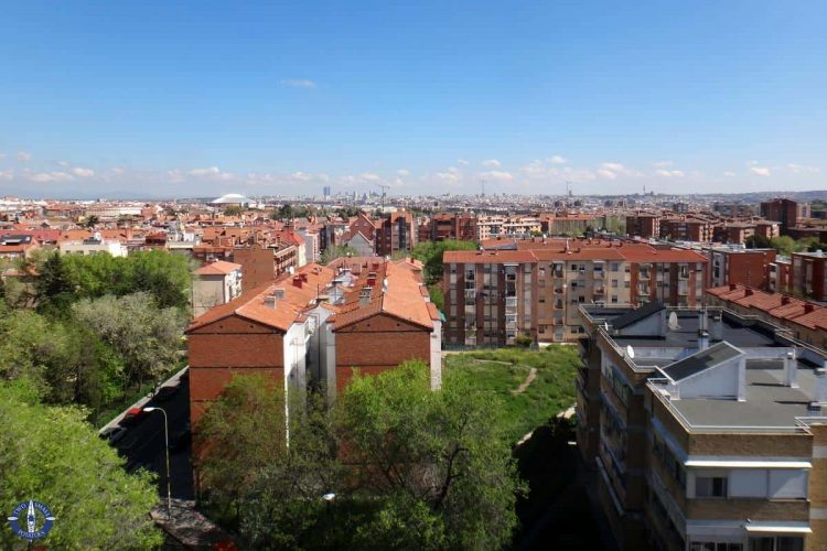 City of Madrid, Spain from a building rooftop