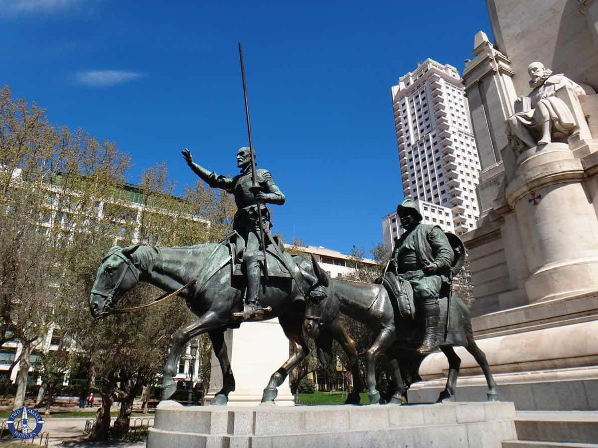 Cervantes Monument at the Plaza de Espanya, Madrid