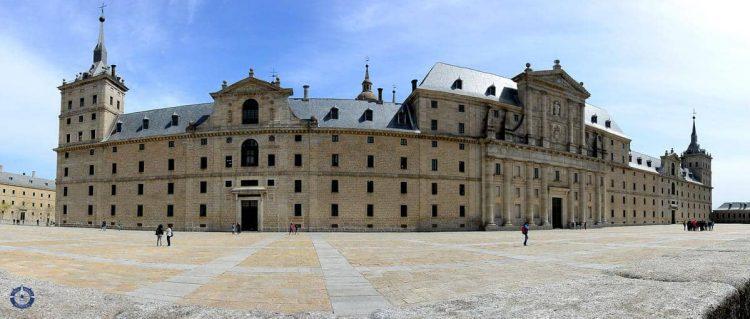 Sprawling expanse of El Escorial in San Lorenzo, Spain