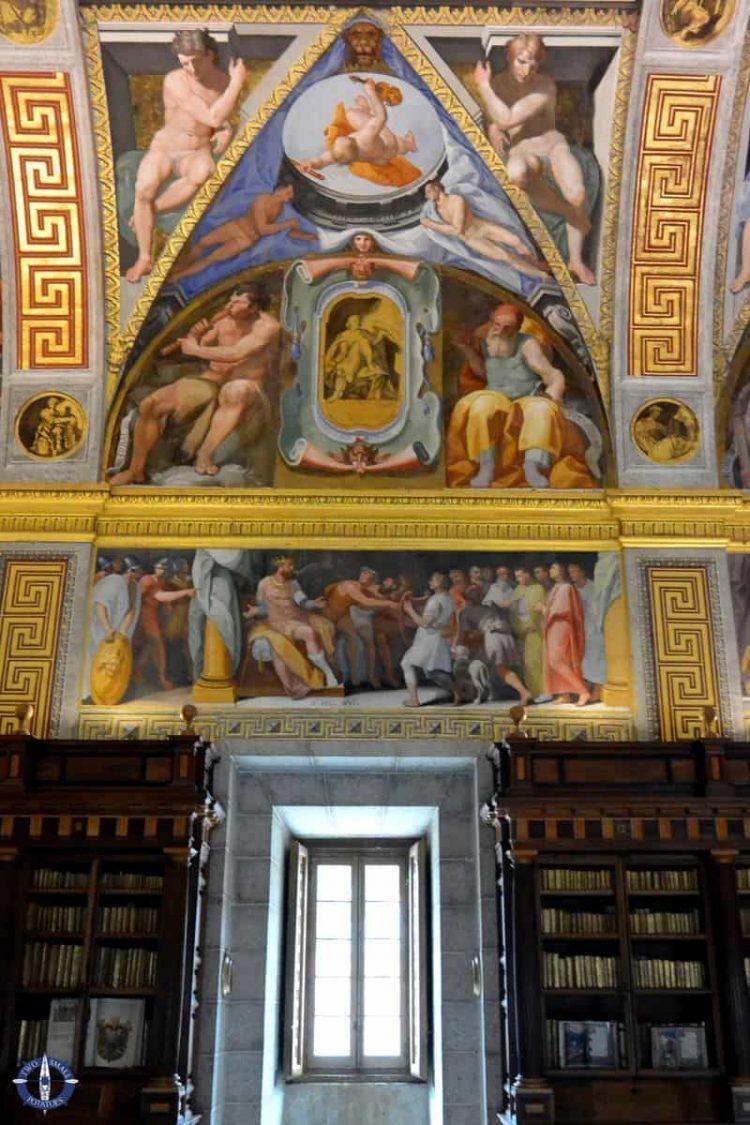 Library at San Lorenzo de El Escorial in Spain