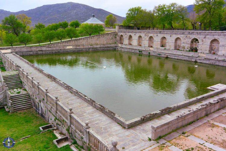 Reflecting pool at San Lorenzo monastery in Spain