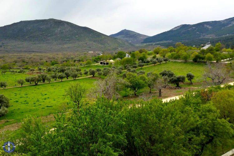 Foothills of the Sierra de Guadarrama mountain range in Spain
