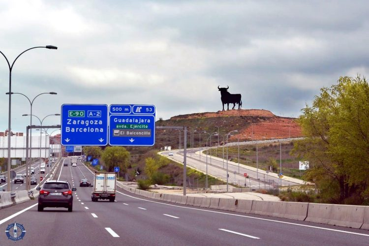 Bull statue on our 10-day road trip through Spain