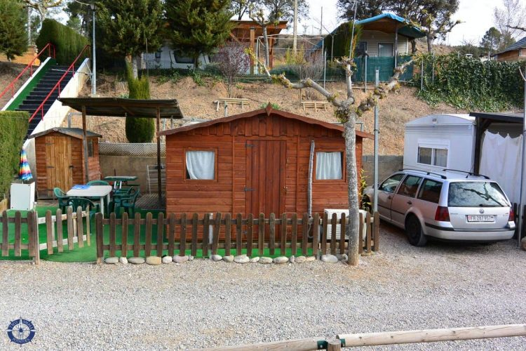 Cabin at Camping La Ribera in Spain on our Andorra road trip