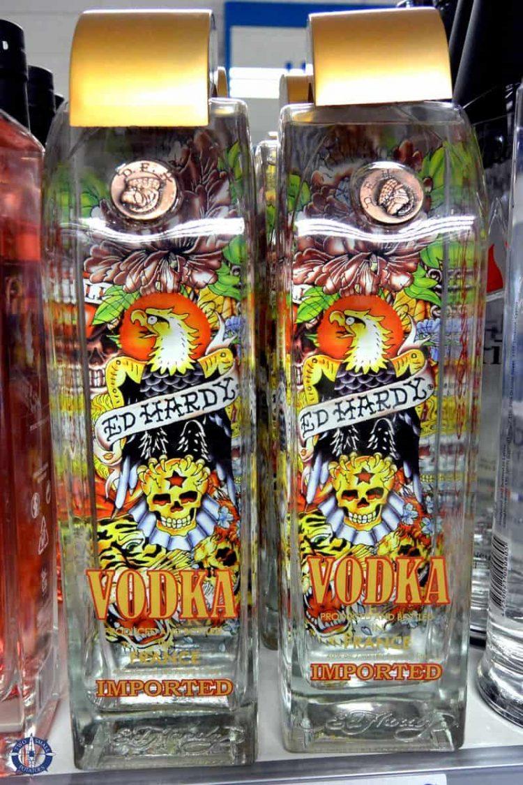 Ed Hardy vodka, duty-free shopping in Andorra