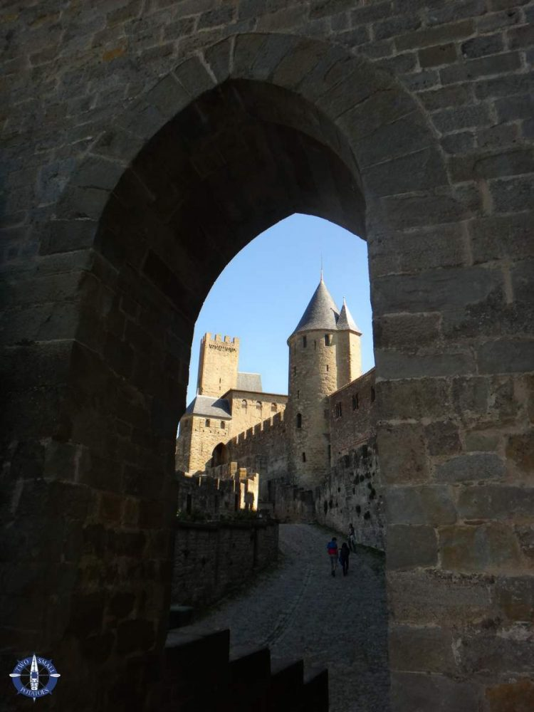 Port d'Aude, western gateway to Carcassonne's medieval city