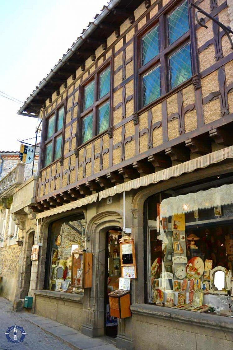 Beautiful store front in the Cite de Carcassonne medieval city