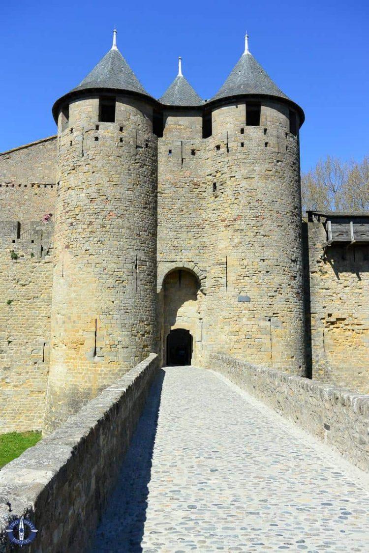 Chateau Comtal at the Cite de Carcassonne, UNESCO site France