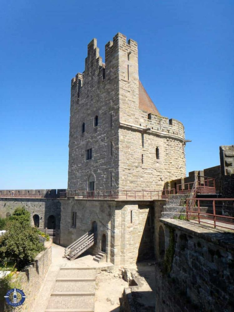 Tower in the old Carcassonne medieval city walls