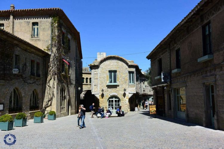 Shopping streets in the Cite de Carcassonne, France