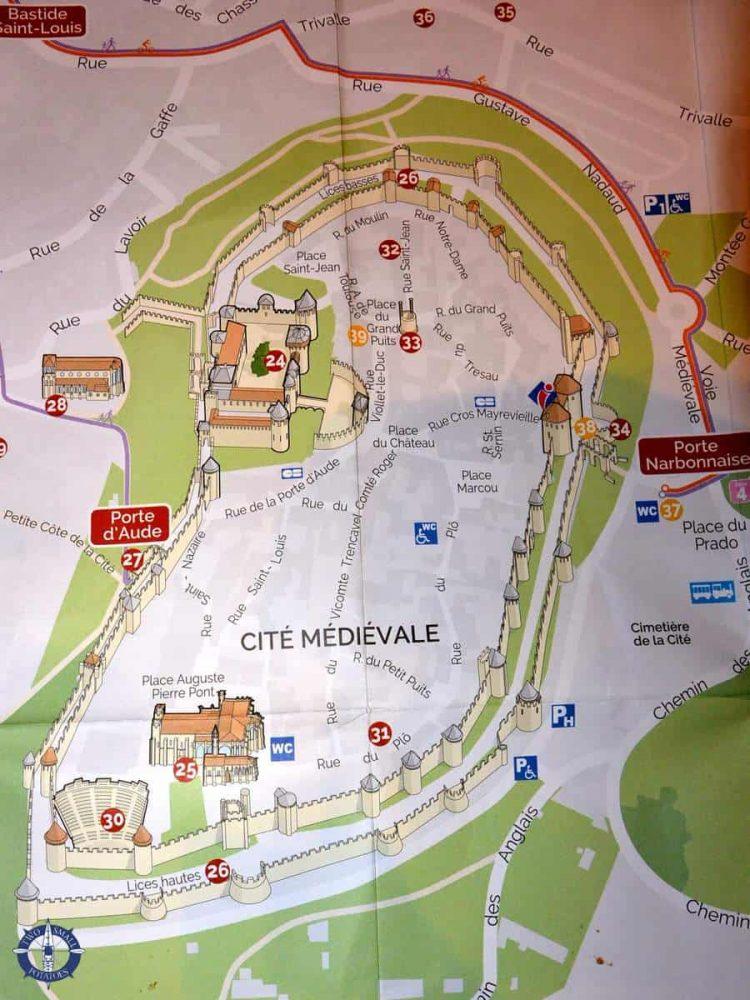 Cite de Carcassonne map